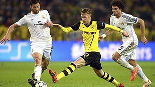 Sufrido pase del Madrid en Dortmund