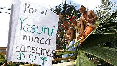 Ecuador se moviliza en contra de la explotación petrolífera en la Amazonia.