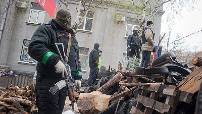 Las fuerzas prorrusas toman el control de Slaviansk