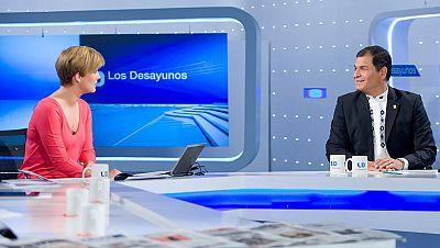 """Correa no encuentra """"razonable"""" que se mantengan los visados a los ecuatorianos"""