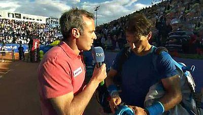 El número uno del mundo ha felicitado a Nico Almagro después de que el murciano haya ganado al mallorquín en Barcelona, algo que no sucedía desde hace ocho años.
