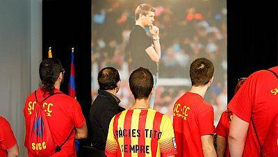 El barcelonismo y la afición culé rinde homenaje a Tito Vilanova