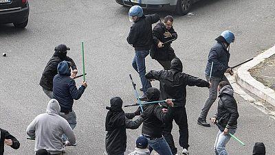 Varios heridos graves por disparos antes de la final de la Copa de Italia