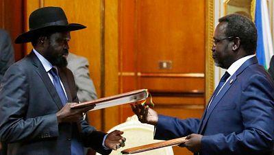 Acuerdo entre el presidente de Sudán del Sur y el líder rebelde para acabar con el conflicto del país