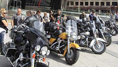 Concentración de Harley-Davidson en Madrid