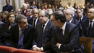 Rajoy y Zapatero acuden al funeral de la presidenta de la Diputación de León, asesinada a tiros