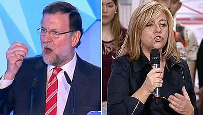 """Rajoy pide """"no volver a la pesadilla"""" y Valenciano advierte sobre """"la dereha más antigua"""""""
