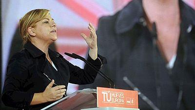 La candidata socialista ha mantenido un encuentro con alcaldes y concejales en Madrid