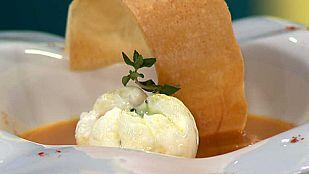 Cocina con Sergio - Crema castellana con huevo escalfado y jamón