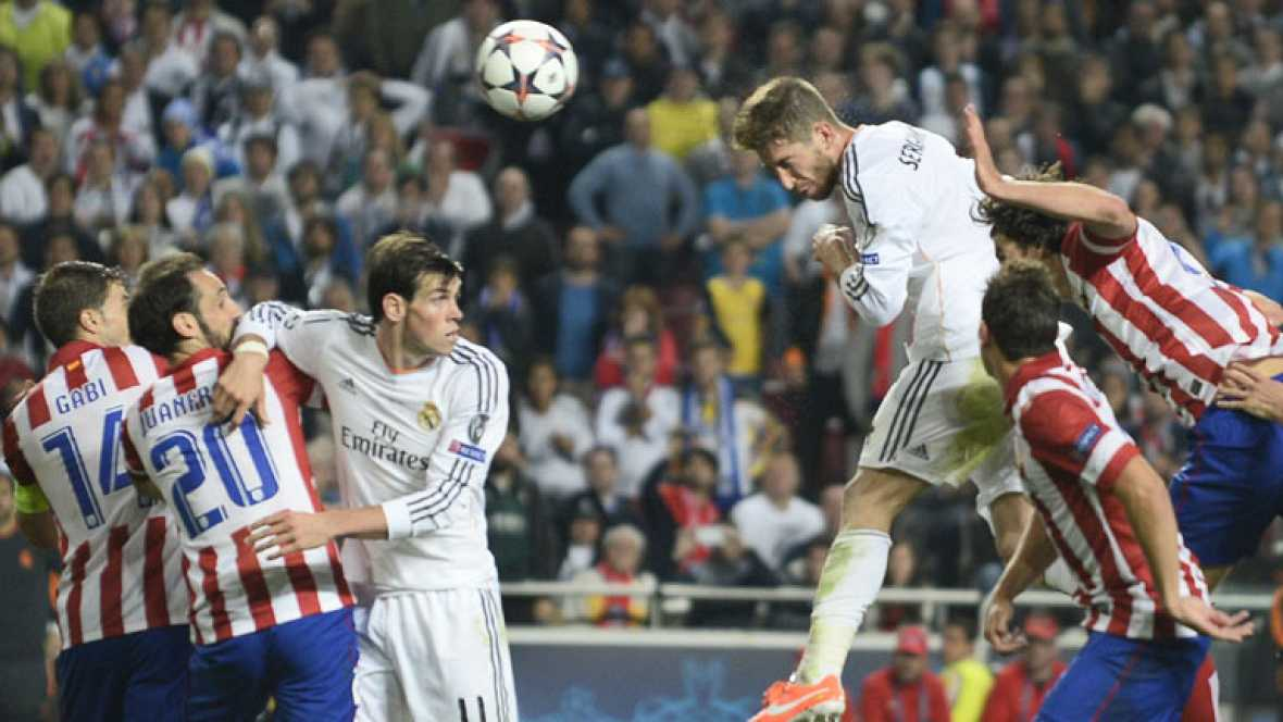 El decisivo gol de Ramos que empataba la final en el descuento, en la exclusiva cámara spider.