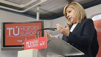 """El PSOE pierde nueve diputados en las elecciones europeas y Valenciano reconoce """"un mal resultado"""""""