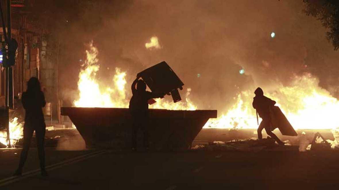 Incidentes anoche por la demolición del edificio de Can Vies