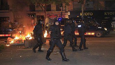 23 nuevos detenidos en otra noche de incidentes y altercados en Sants