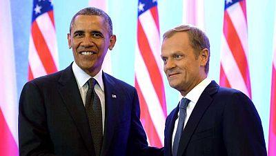 Obama inicia su gira europea en Polonia