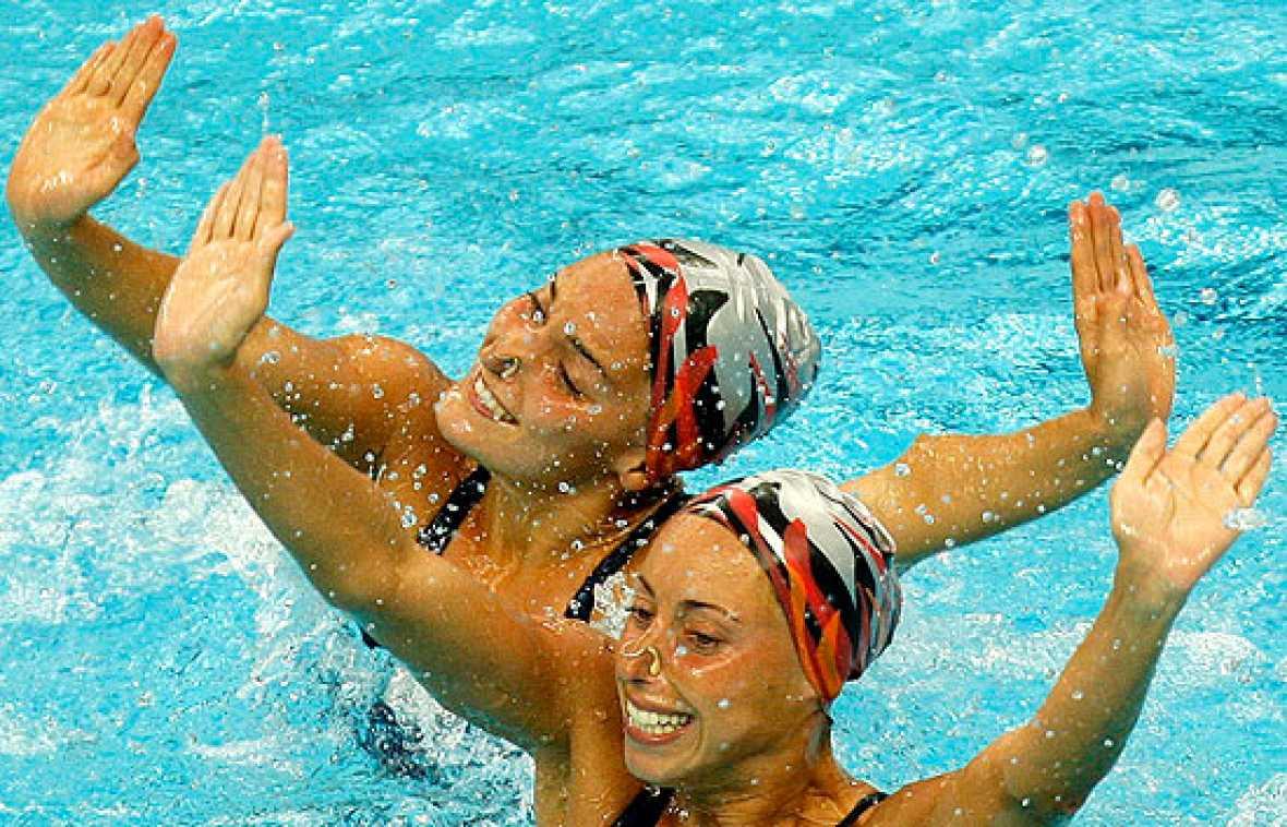La pareja española de sincronizada, Gemma Mengual y Andrea Fuentes, han marcado la segunda mejor puntuación por detrás de las rusas.