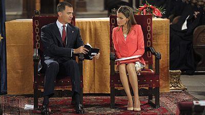 Primer acto juntos de Don Felipe y Doña Letizia desde el anuncio de la abdicación