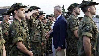 El ministro de Defensa ha comenzado hoy una gira por centroáfrica
