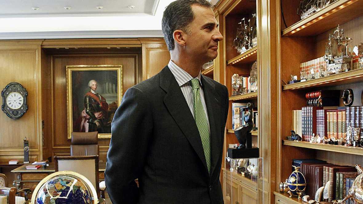Felipe VI utiliza el mismo despacho que su padre, pero con cambios