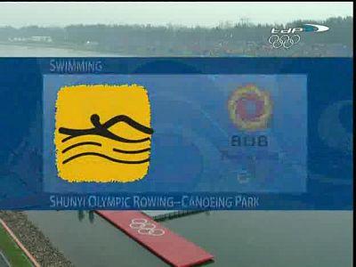 Natación masculina en aguas abiertas.