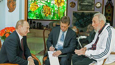 Fidel Castro reaparece en un encuentro con Putin