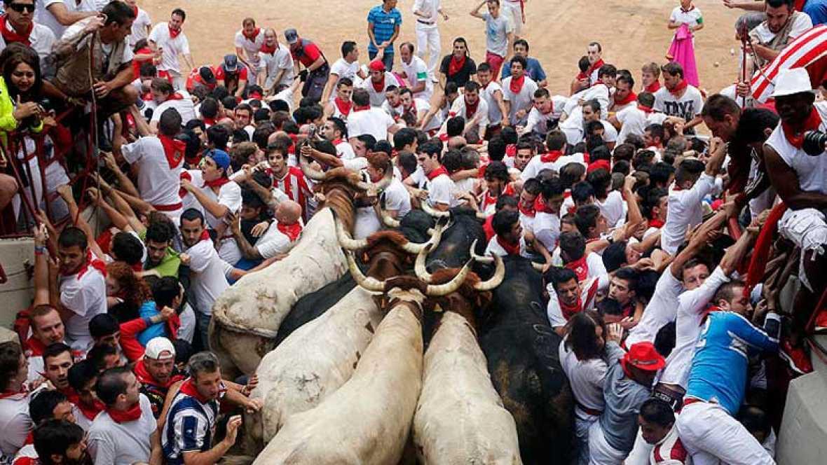 Un año de uno de los encierros más angustiosos en Pamplona