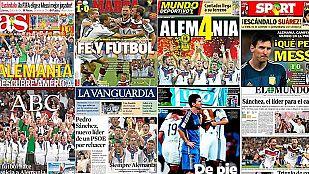 La prensa alemana elogia el Mundial ganado en Brasil