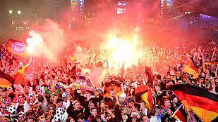 El triunfo de Alemania llenó de júbilo Brandenburgo