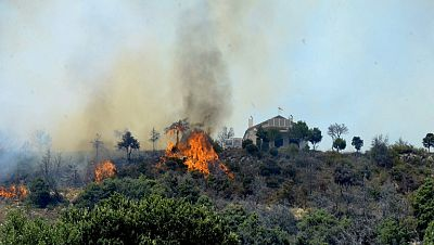Dos incendios en Guadalajara alcanzan el Parque Natural de la Sierra Norte