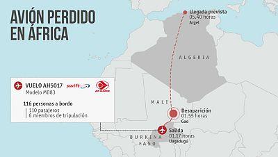 Pendientes del paradero de un avión de la compañía española Swiftair que ha desaparecido en el norte de Mali