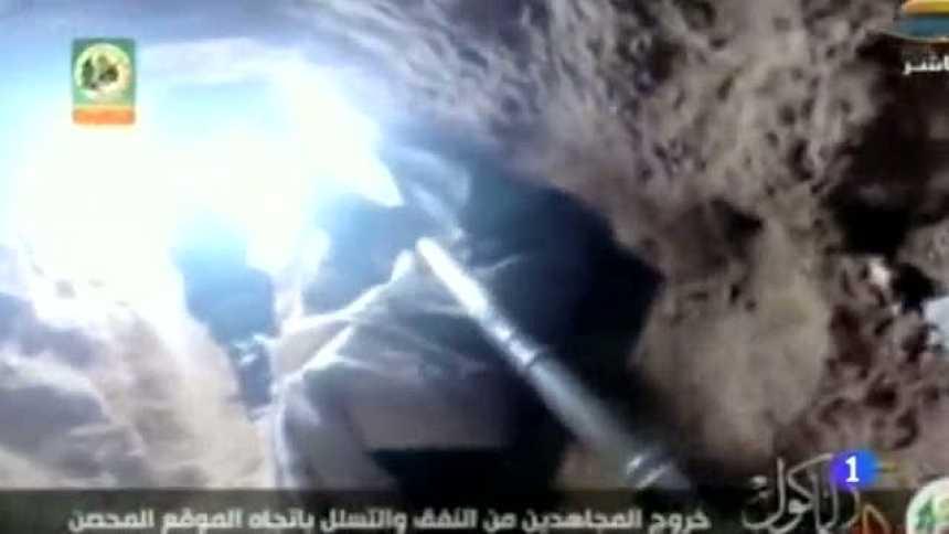 Hamás muestra un ataque a Israel a través de sus túneles