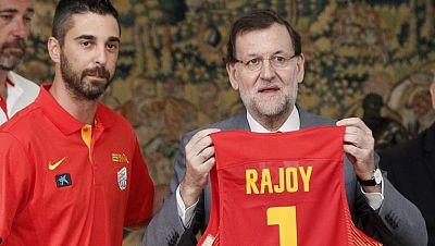 Rajoy desea suerte a la selección española antes del Mundobasket 2014