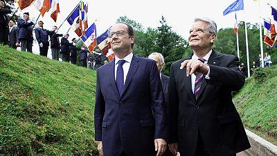 Francia y Alemania conmemoran la Gran Guerra