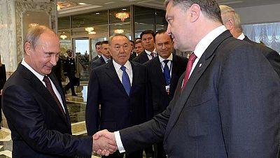 Encuentro en Minsk de los presidentes de Rusia y Ucrania