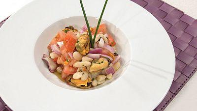 La ma�ana - Ensalada de alubias blancas con mejillones