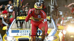 Alberto Contador conquista su tercera Vuelta, Malori gana la contrarreloj