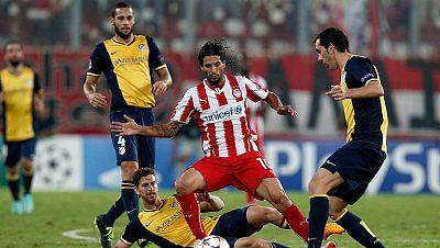 Oblak debuta con mal pie y el Atlético pierde ante el Olympiacos