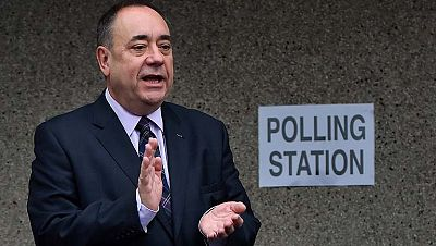 Así han votado Alex Salmond, Darling y Gordon Browm