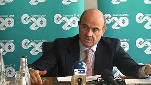 Luis de Guindos ha dicho que España no es inmune a la desaceleración