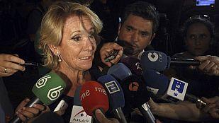 Esperanza Aguirre declara como imputada por su incidente de trafico