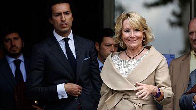 Declara Esperanza Aguirre en los juzgados de Plaza de Castilla