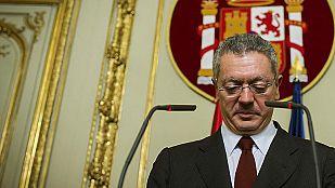 Gallardón dimite como ministro de Justicia y abandona la política