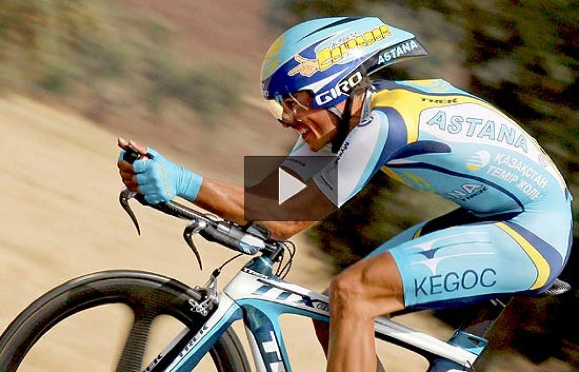 El ciclista norteamericano Levi Leipheimer, compañero de Alberto Contador en el Astana, ha ganado la quinta etapa de la Vuelta Ciclista, una contrarreloj de 42 kilómetros disputada en Ciudad Real. Los españoles, especialmente el madrileño y Valverde,