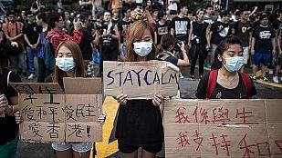 La protesta se extiende a nuevas zonas de Hong Kong en el día de la fiesta nacional en China