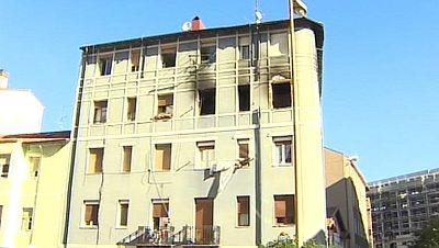 Una persona muerta y siete hospitalizadas a causa de un incendio en Barakaldo