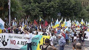 Manifestaciones en Canarias contra las prospecciones petrolíferas