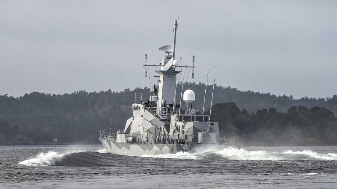 La Marina de Suecia sigue con su espectacular operación de búsqueda en la costa desde que detectó actividad submarina
