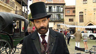 """Cuarta semana de rodaje en Cantabria de la película"""" Altamira"""", protagonizada por Antonio Banderas"""