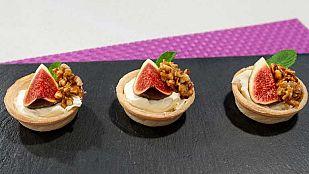 Tartaletas de higos con mascarpone y miel