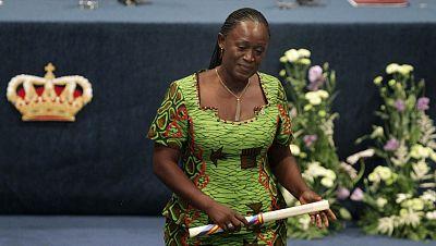 La activista y periodista congoleña Caddy Adzuba Premio Principe de Asturias de la Concordia