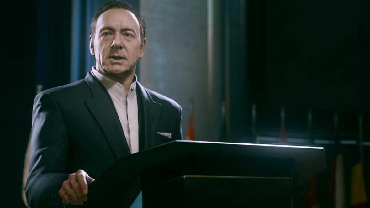 Kevin Spacey pone cara de malo en la nueva entrega del videojuego 'Call of Duty'